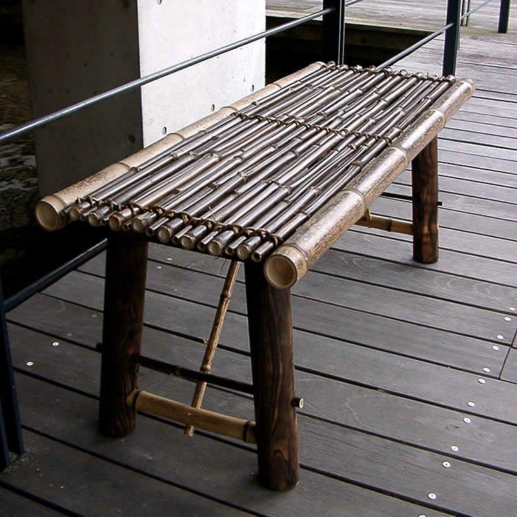 虎竹縁台(折り畳み式)小100cm 2人掛け