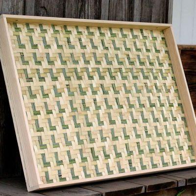 梅干しの土用干し約6kg用 えびら(竹編み平かご)大