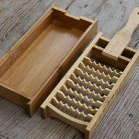 竹製大根おろし(鬼おろし)と 鬼おろし竹皿のセット