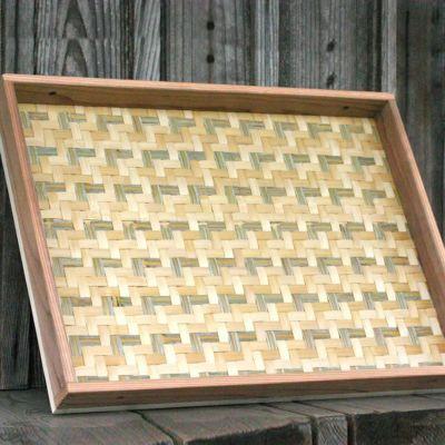 梅干しの土用干し約3kg用 えびら(竹編み平かご)小