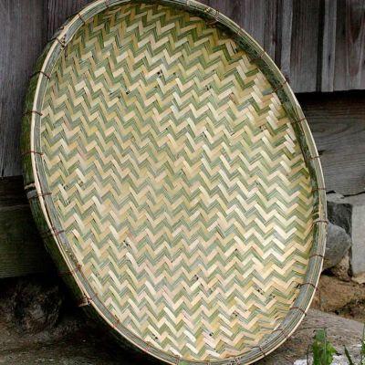 梅干しの土用干し約3.5kg用 国産竹ざる60cm