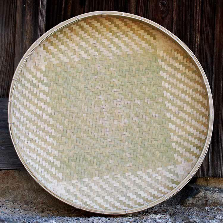 匠の網代編み竹ざる