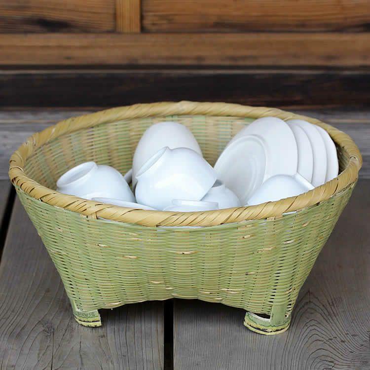 伝統の技が光る淡竹椀かご