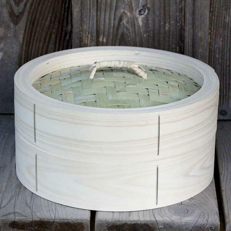 檜中華蒸籠30㎝身蓋セット