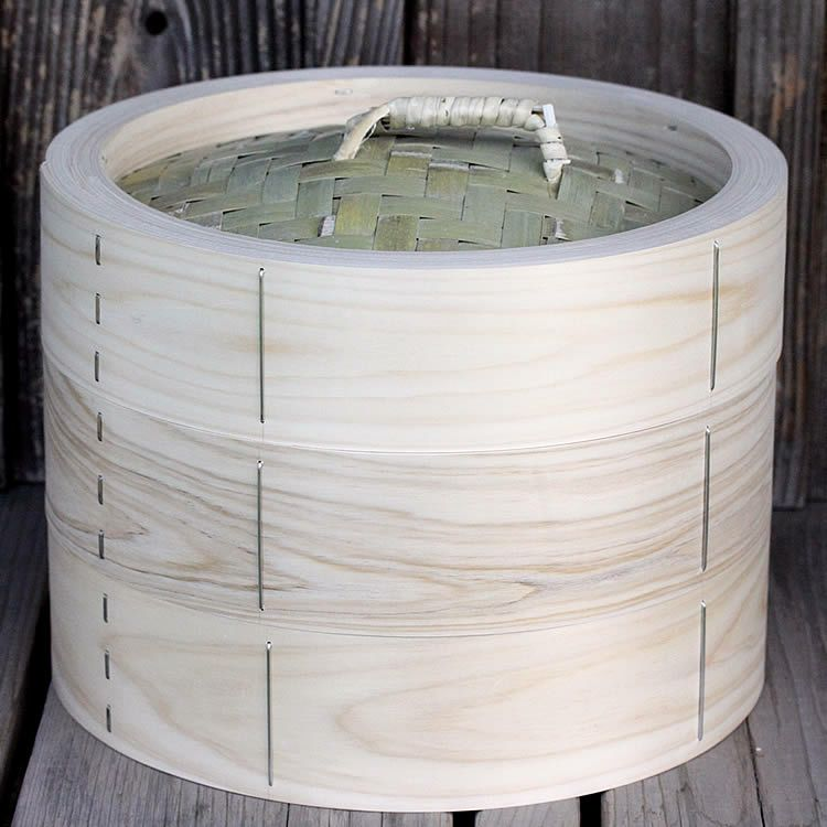 檜中華蒸籠30㎝身蓋二段セット