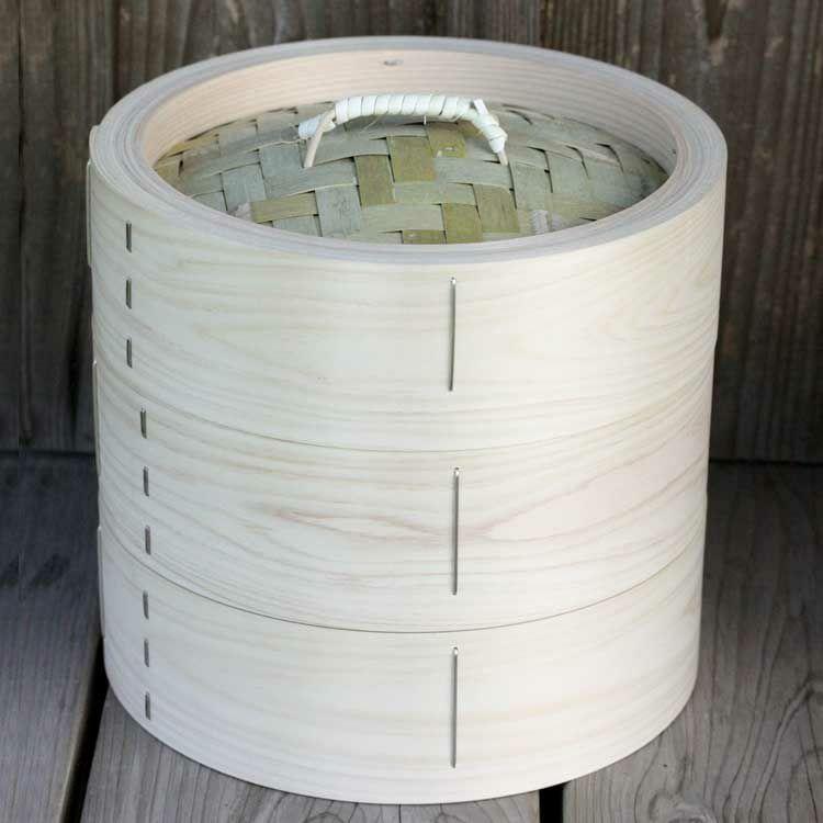 檜中華蒸籠24㎝身蓋二段セット