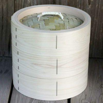 【国産】檜中華蒸籠(せいろ)24㎝身蓋二段セット