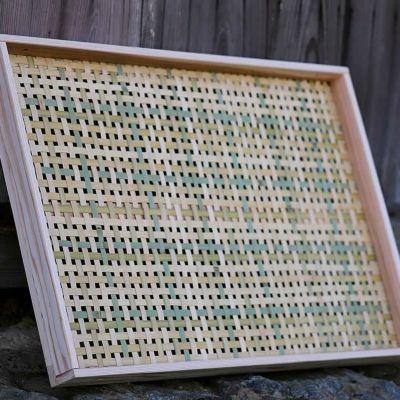 梅干しの土用干し約6kg用 えびら(竹編み平かご)四ツ目編み(大)