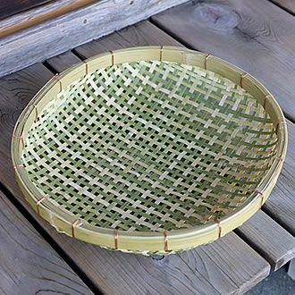 梅干しの土用干し約2kg用 国産四ツ目竹ざる40cm