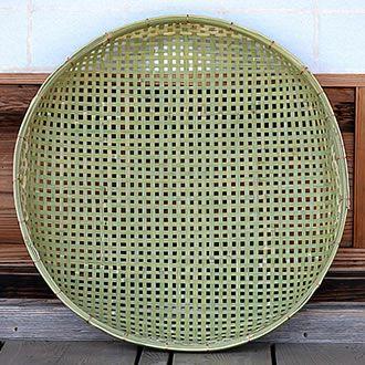 梅干しの土用干し約3.5kg用 国産四ツ目竹ざる60cm