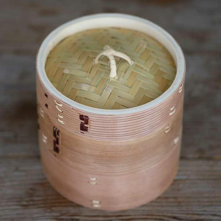杉蒸籠(セイロ)15cm2段身蓋セット