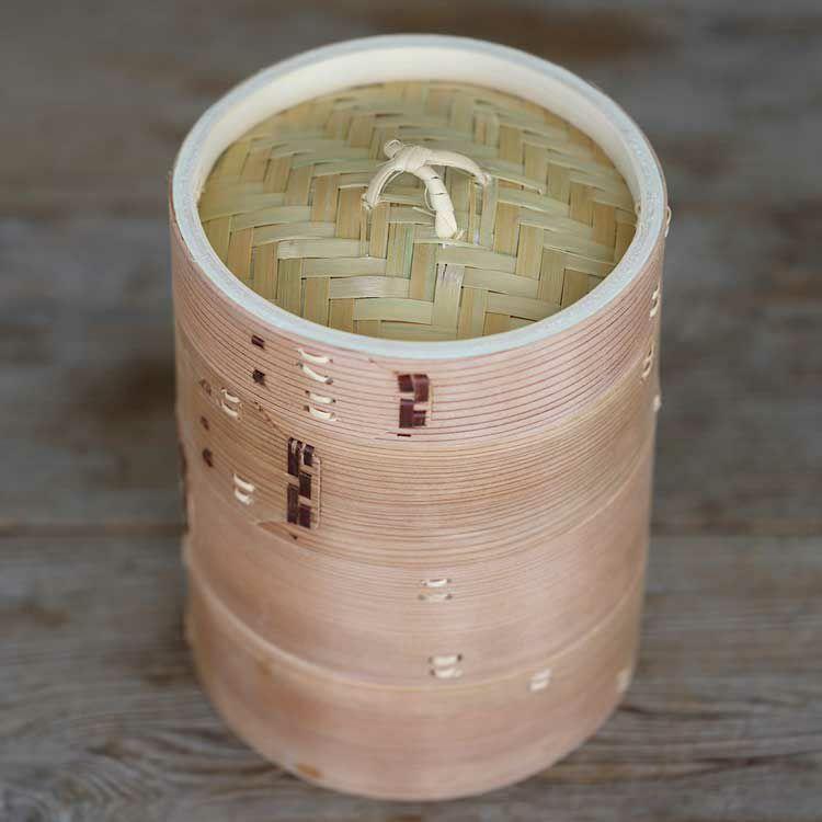 杉蒸籠(セイロ)15cm3段身蓋セット