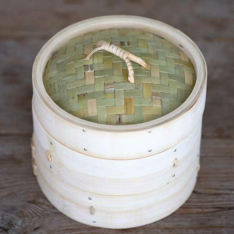 竹蒸篭(セイロ)18cm2段身蓋セット