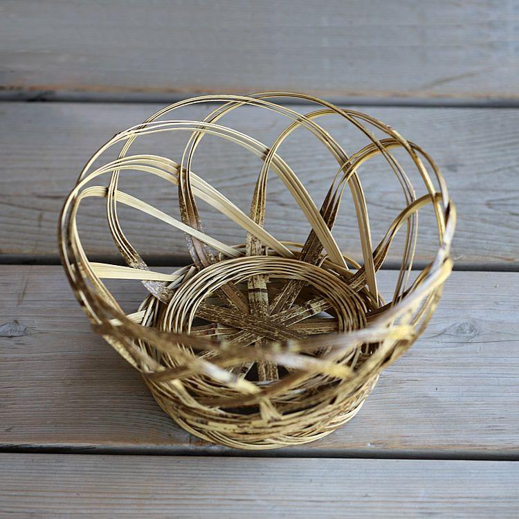 虎竹洗濯籠(小)