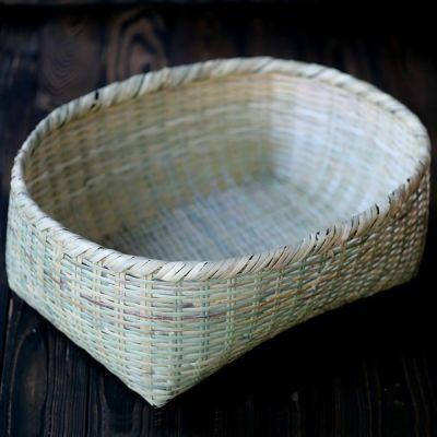 篠竹楕円籠