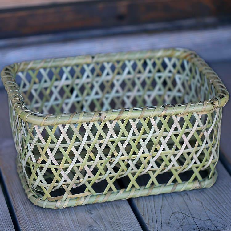 根曲竹角茶碗籠