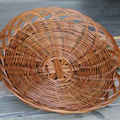 シダ編み盛り皿籠 43cm